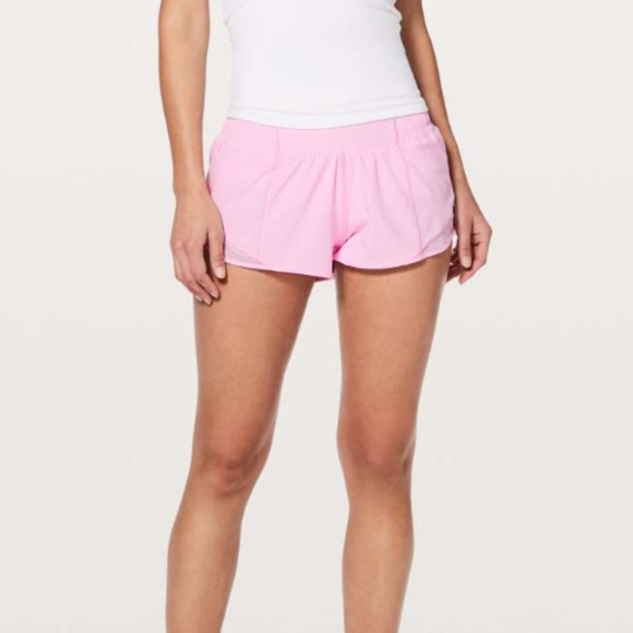 Lululemon Athletica Shorts Lululemon Hotty Hot Short Ii 25 Pearl Pink Poshmark